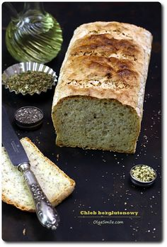 Chleb bezglutnowy - przepis Olgi Smile Meat Recipes, Paleo Recipes, Cooking Recipes, Sin Gluten, Gluten Free, Fodmap, Banana Bread, Food Porn, Food And Drink