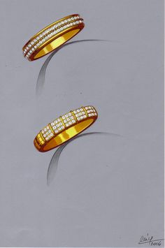One of Rémy's greatest joys Old Jewelry, High Jewelry, Jewelry Art, Fashion Design Sketches, Sketch Design, Jewellery Sketches, Jewelry Sketch, Metal Drawing, Ring Sketch