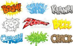 Comic Books Cartoon Sound Effects Onomatopeia Royalty Free Stock Vector Art Illustration