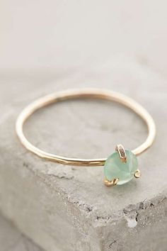 Serena Ring, with chalcedony | Five and Two // Anthropologie