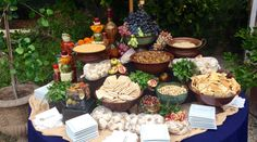 Mediterranean Mezze Station featured on PureJoyCatering.com