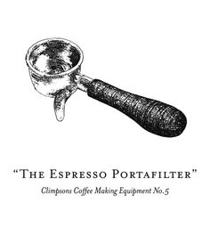 Coffee making equipment illustrations for Climpson & Sons - The Espresso Portafilter
