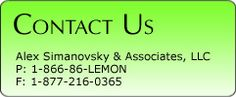 Auto Lemon Law Help - Automobile Lemon Laws - Lemon Law Attorney - Alex Simanovsky & Associates