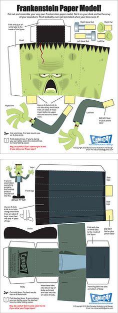 Frankenstein Papercraft [create] | ballarddesigns.com