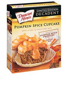 Pumpkin Spice Decadent Cupcake mix makes the best. Pumpkin Cupcakes, Pumpkin Spice Cupcakes, Pumpkin Dessert, Pumpkin Cheesecake, Cupcake Mix, Cupcake Cakes, Cupcake Frosting, Pumpkin Recipes, Fall Recipes