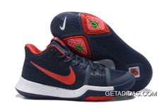 45a1922c5421 Nike Kyrie 3 Navy Blue White Red TopDeals