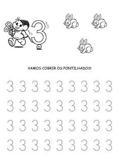 Alfabetizando com Mônica e Turma: Números Preschool Writing, Numbers Preschool, Math Numbers, Preschool Worksheets, Primary School, Pre School, Finger Plays, Step Kids, Alphabet