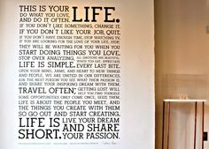 Holstee Manifesto Wall Decal - This is your life, do what you love and do it often.