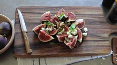 Fig salad with goat cheese  www.geraldinecooks.com