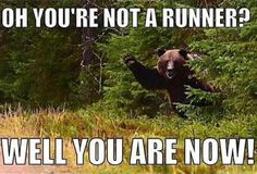 oh you're not a runner? ... well you are now ...