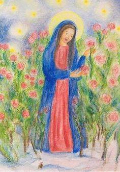 Ilona Bock - Maria im Rosengarten