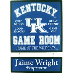 University Of Kentucky Personalized Sign
