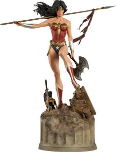 Where to buy DC Comics Collectibles Wonder Woman Premium Format Figure Statue Lady Justice, Geeks, Dc Comics Art, Wonder Woman, Women Figure, Sideshow Collectibles, Badass Women, Warrior Princess, Figure Model
