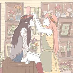 Florist/Tattoo Artist AU by iiping.deviantart.com on @DeviantArt
