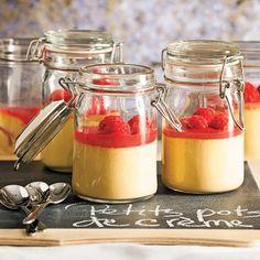 Petits pots de crème irlandaise - Les recettes de Caty Dessert Pots, Daycare Menu, Milkshake, Just Desserts, Family Meals, Cooking Tips, Panna Cotta, Cake Decorating, Sweets