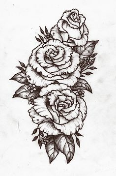 I'd love something like this on my forearm. :) except with the little Rose just make it the same size as the other 2 & in red, white, & light pink. ❤️⚪️