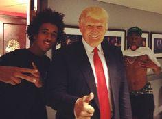 Donald Trump & Taco Photo Bombed By Tyler the Creator! #golfwang #odfuture