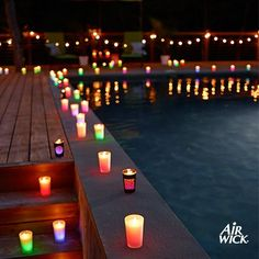 Pool Party Ideas, Décor, Food & Themes with 30+ Pics for 2014 -  Pool Party Ideas for Decorating Pool At Night