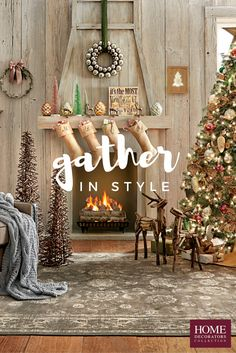 Gather together at home with holiday décor everyone is sure to love. There's nothing like a cozy fire, stockings hung and a magical Christmas tree to get you in the spirit of the season. Welcome friends and family into your holiday home with our selection of holiday decor, from rustic and traditional to snowy white and sparkling. Available at Home Decorators Collection.
