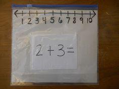 Mrs. T's First Grade Class: Ziploc Slider Bag Number Lines
