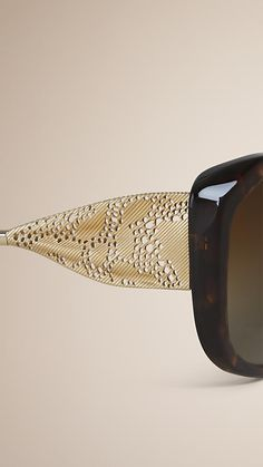 Tortoise shell Gabardine Lace Collection Square Frame Sunglasses - http://www.visiondirect.com.au/designer-sunglasses/Burberry/Burberry-BE4208Q-300273-296122.html