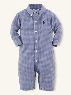 Kensington Coverall - One-Pieces  Layette Boy (Newborn–9M) - RalphLauren.com