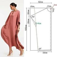 Dress Sewing Patterns, Sewing Patterns Free, Clothing Patterns, Long Dress Patterns, Pattern Sewing, Top Pattern, Fashion Sewing, Diy Fashion, Fashion Dresses