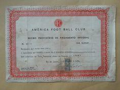 Brazil, America Foot Ball Club, Recibo Provisorio