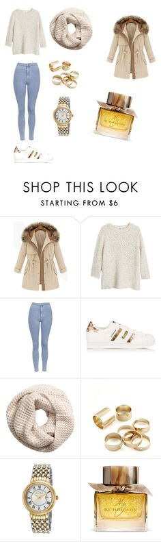 """""""Michigan"""" by feedbacker1 ❤ liked on Polyvore featuring MANGO, Topshop, adidas Originals, H&M, Lucien Piccard and Burberry"""