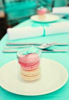 Macarons as wedding favours. Find more wedding favour ideas here http://raspberrywedding.com/category/raspberry-wedding/decoration/stationeryandfavours/