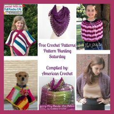 Free crochet patterns for shawls and ponchos, roundup by American Crochet