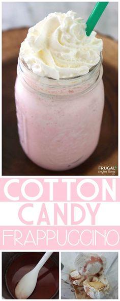 Amazing Cotton Candy Frappuccino Recipe a Starbucks Copycat Recipe