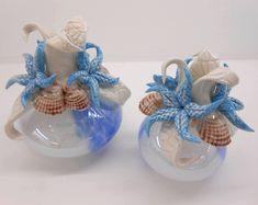 Bomboniere per Matrimonio in porcellana, diffusori essenze con decori tema mare