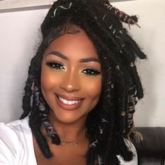 Faux Locs & Goddess Locs Hairstyles- How to Install, Price & Differences Marley Twist Hairstyles, Faux Locs Hairstyles, Black Girls Hairstyles, Faux Locs Marley Hair, Faux Dreads, Faux Locs Goddess, Curly Hair Styles, Natural Hair Styles, Trend Fashion