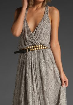 HAUTE HIPPIE Long & Winding Road Belt in Military/Matte Gold at Revolve Clothing - Free Shipping!