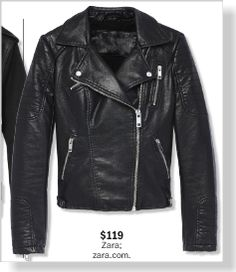 Zara Jacket, $119. Clipped from Marie Claire using Netpage.