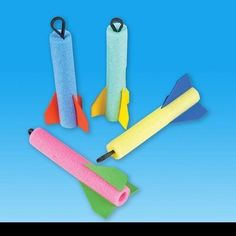 12 Foam Finger Rocket Flyers:Amazon:Toys & Games For slingshot dodgeball