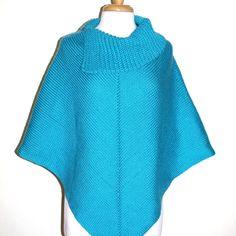Ideas For Crochet Poncho Women Cowl Neck Crochet Poncho Patterns, Crochet Scarves, Knit Crochet, Irish Crochet, Crochet Hat For Women, Ladies Poncho, One Piece, Tutus For Girls, Slip