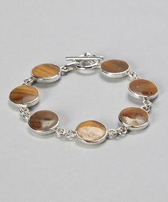 Take a look at this Tiger's Eye & Sterling Silver Bracelet by Seraphina on #zulily today! $50 !!