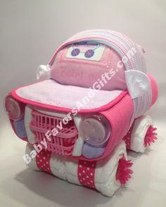 Un carro de pañales. Una linda idea para un babyshower y podemos hacerlo para ti #Venezuela #Caracas #bebe