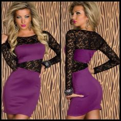 Black Lace Insert Dress in purple  Item No : DP3827-4  Price : $40.99  Size S/M only available.   To purchase today, please email us or inbox us & include the following:  1) Full name  2) Email address  3) Mailing address  4) Phone number  5) Item number(s) OR picture(s) AND size(s) of the item(s) you wish to order  6) Form of payment (etransfer or PayPal accepted. www.paypal.com)  Email to: dieprettyclothing@gmail.com  ~ Die Pretty Clothing Co. www.dieprettyclothingco.com
