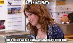 Erin Hannon / The Office / Funny Merry Christmas Memes, Funny Xmas, Christmas Humor, Office Christmas, Christmas Parties, Christmas 2014, Christmas Images, Christmas Shopping, Erin Hannon