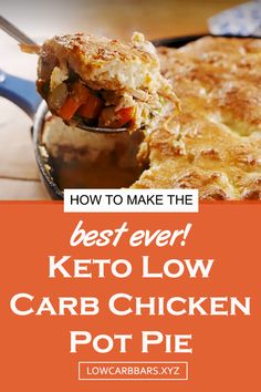 Keto Recipes For Stew Meat Low Carb Dinner Recipes, Keto Dinner, Low Carb Chicken Pot Pie Recipe, Keto Chicken Soup, Pie Recipes, Cooking Recipes, Flour Recipes, Dessert Recipes, Low Carb Casseroles