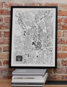 SALE Atlanta GA City Buildings Map Print by CityFabric on Etsy, $28.00...have larger canvases and more cities also available :)