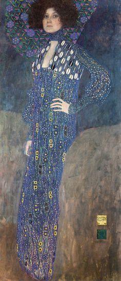 Gustav Klimt / Portrait of Emilie Louise Flöge, 1902