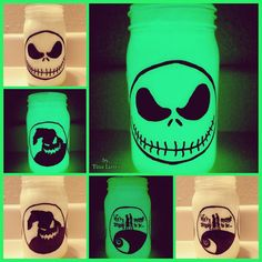 The Nightmare Before Christmas Triple Sided by MamaListroMasonJars