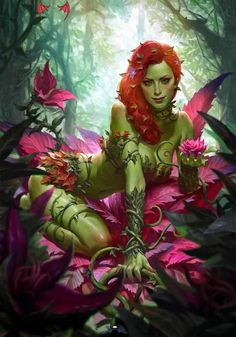 Poison Ivy by Kilart DC Comics. Comic Book Artwork • Poison Ivy by Kilart. Follow us for more awesome comic art, or check out our online store www.7ate9comics.com<br> Poison Ivy Comic, Dc Poison Ivy, Poison Ivy Batman, Poison Ivy Dc Comics, Poison Ivy Cosplay, Comic Book Characters, Comic Character, Comic Books Art, Comic Art