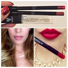 A little bit naughty...a little bit nice. Younique Primal red for your sassy days and Younique Pouty nude for everything else smile emoticon check out all the Younique precision pencils here: https://www.youniqueproducts.com/CarlaValdez
