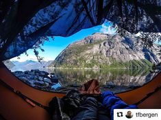 Hammock spot near Eidfjord from my first trip with this hammock last year. I use the hammock with the inflatable insulated pad Fjøl. It has an integrated bug net. I use a tarp when it is raining. My discount code at the webshop is AMOKTFBERGEN Stay Wild, Great View, Mount Rainier, Gopro, Hammock, Norway, Camping, Adventure, Mountains