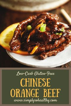 Make take-out in your own kitchen with our #Orange #Beef – #LowCarb #Chinese Food Recipe! Unlike most take-out, this recipe can work for low-#carb, #keto, #Atkins, #diabetic, #glutenfree, #grainfree, #dairyfree and #Banting diets.